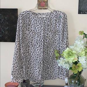 💖Loft leopard print blouse size medium 💖